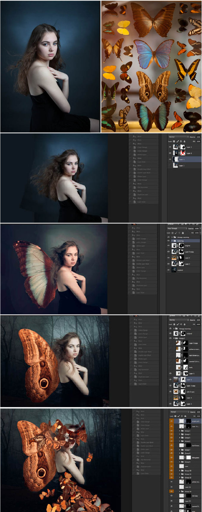 Rachel-with-Butterflies-stages