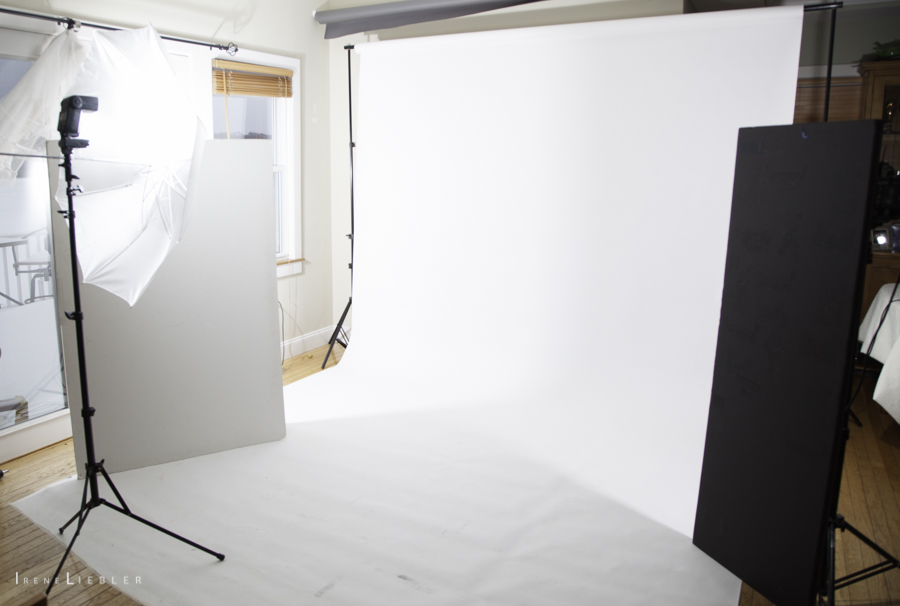 Herb Ritts Portrait setup shot
