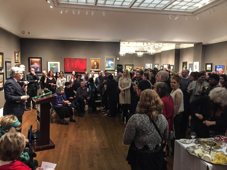 A packed house at Salmagundi's New Member Show 2017