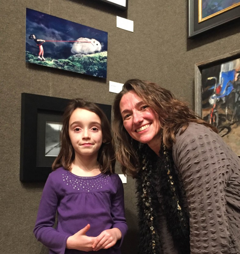 Irene Liebler and Elise at the Salmagundi Club